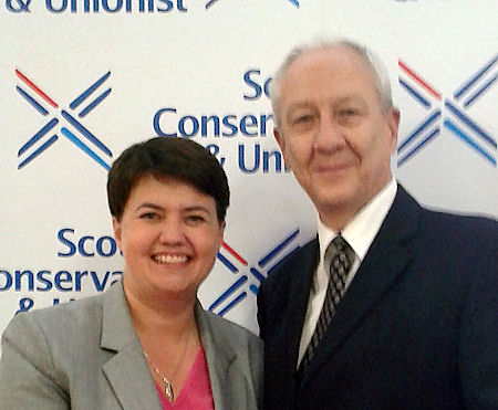 Alan Craig with Ruth Davidson